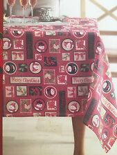 """New St Nicholas Square 60 x 102"""" Fabric Oblong Tablecloth  Traditional Christmas"""