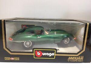 Burago 1:18 Jaguar E Coupe 1961 Diecast Car Model Boxed