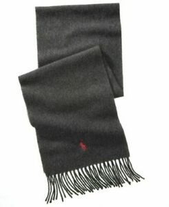 POLO RALPH LAUREN CASHMERE AND WOOL GRAY SCARF BRAND NEW ITALY