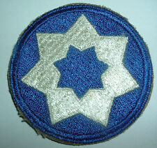 AMERICAN PATCHES-ORIGINAL WW2 UNITED STATES 7th SERVICE COMMAND SNOWY BACK