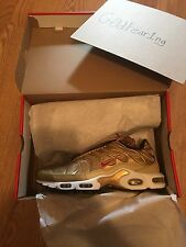 Nike Air Max Plus Tuned In TN Nike Metallic Gold Size 10.5 with receipt