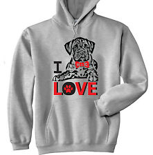 I LOVE BOXER - NEW COTTON GREY HOODIE