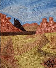 British Randa Fawzi (1952) ABSTRACT EXPRESSIONIST OIL PAINTING ART Chad