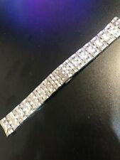 New Original Baume & Mercier Brown 21mm Stainless Steel Watch Bracelet (Clifton)