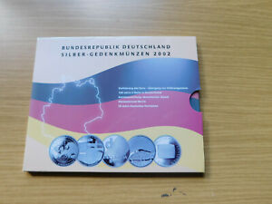 10 Euro Gedenkmünzen Set 925 Silber BRD 2002 in PP