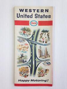 Vintage Enco Humble Oil Road Map 1967 Western United States