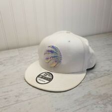 Toronto Raptors White Snapback 9fifty New Era Hat Cap Reflective Logo *Rare*