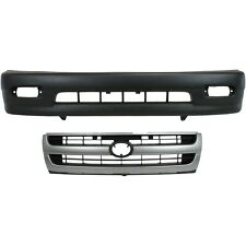 Bumper Cover Kit For 98 2000 Toyota Tacoma Front 2pc With Grille Fits 1998 Tacoma