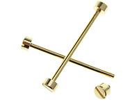 2pcs gold Replacement Steel Screw Pins Tubes for Invicta watch band lugs