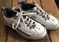 Skechers Shape Ups Toning Shoes White Blue Comfort Walking SN 50875 Mens 12