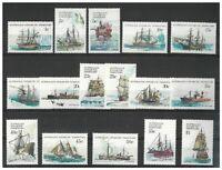Australian Antarctic Territory 1979-81 Ships Set of 16 Stamps SG37/52 MUH 14-5