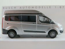 Busch 52505 Ford Transit Custom Hochdach Bus (2013) in silber 1:87/H0 NEU/OVP