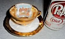 "Wow! TIRSCHENREUTH Bavaria Demitasse Gold 2""Tea Cup/ 4.5""Saucer-MADE IN GERMANY!"