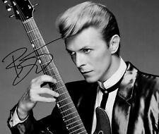 More details for david bowie signed print/ ready for mounting or framing/ size a4/ photo