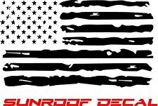 Distressed American Flag Vinyl Sunroof Decal F150 Dodge Chevy Ford Jeep