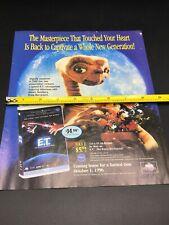 1996 UNIVERSAL E.T. VHS Movie Magazine AD