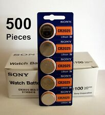 500 pc SONY CR2025 CR 2025 3V Lithium Batteries Expire 2026 NEW 500 Coin Cells