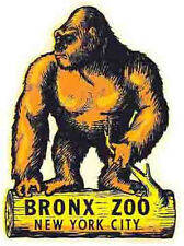 Bronx Zoo  New York City  NY  Vintage Looking Travel Decal Luggage Label Sticker