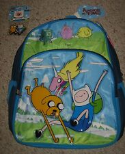 Cool! Adventure Time Backpack + Free Rubber Keychain Brand New!