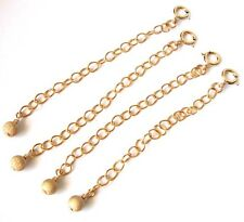 3pcs 14k gold filled chain extender extension stardust bead spring clasp gch36
