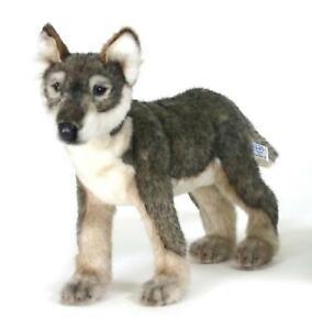 HANSA Stuffed Animal Real No.5467 Baby wolf Plush Doll Cute Kawaii Japan