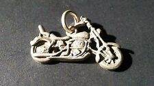 Pendant for Chain or Bracelet Classic Vintage Motorcycle Charm Biker Silver Tone