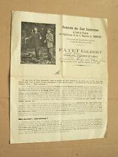 Catalogue Sourcier FAYET GILBERT à Isserpent Allier Pendule magnétisme brochure