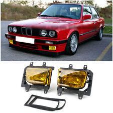 Front Bumper Yellow Fog Lights ABS Lens Kit For 85-93 BMW E30 3Series Sedan UT