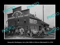 OLD LARGE HISTORIC PHOTO OF SUNNYSIDE WASHINGTON, THE M&M BLACKSMITH Co c1910