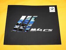 BMW M4 CS 2017 Prospekt Brochure Depliant Prospetto Catalog Folder F82