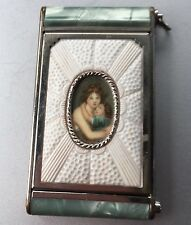 Vintage mid century Girey camera portrait oblong compact mirror rouge lipstick