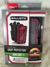 "New BALLISTIC ""HARD CORE"" IPhone 5 Case Gray & Pink Holster & Belt Clip"