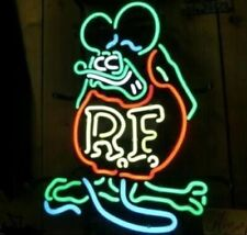 "New Rat Fink Rf Rod Beer Man Cave Neon Light Sign 20""x16"""