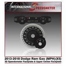 3D Speedometer Faceplate Fits a 2013 to 2018 Dodge Ram & Upper Center Faceplate