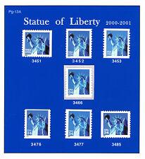 3451- 3453, 3466 3476-77 3485 Statue of Liberty (PREMIUM SET) MNH PG-13A