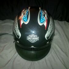 Harley Davidson AGV DOT USA Flag & Eagle Half-Helmet Made in Italy Size Small