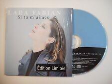 LARA FABIAN : SI TU M'AIMES [ CD SINGLE PORT GRATUIT ]