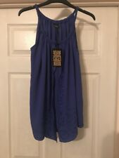 Womens Top Biba Blue With Layering & Detail Size 8 New With Tags