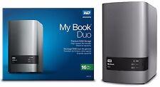 Western Digital WD 16TB My Book Duo Hard Drive 8TBx2 WDBLWE0160JCH WDBFBE0160JBK