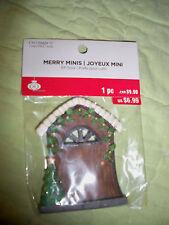"Celebrate It*Christmas*Merry Minis*ELF DOOR*3""*Trees*White Trim"