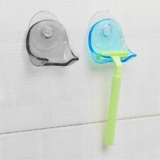 UK Plastic Sucked Suction Cup Razor Shaver Holder Wall-mounted Rack Hanger BS