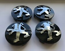 4x60mm Wheel Rims Center Hub Caps fits For Peugeot 206 207 307 308 301 408 Black
