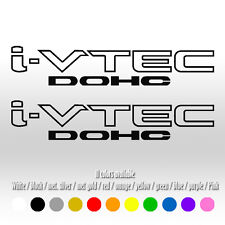 "9"" IVTEC DOHC VTEC Window Car Honda Si Type Accord Civic FIT Vinyl Decal sticker"