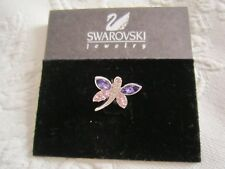 Final Clearance Genuine Swarovski Swan Signed Crystal Dragonfly Tack Pin