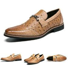 British Men's Low Top Leisure Faux Leather Shoes Business Work Office Slip on L