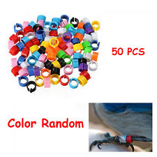 50 PCS Random Useful Parrot Pigeon Animal Poultry Bird Foot Rings Clip Leg Band