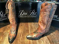 Ladies Dan Post Snip Toe western boot.  Chocolate/Black Wynona. Size 8M