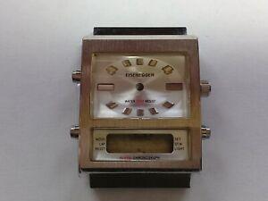 Eisenegger Ana-Digi Alarm Chronograph Case with Dial. For Miyota T480 (JC052)