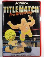 Title Match Pro Wrestling Atari 2600