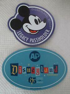 Disneyland 65th anniversary annual passholder / AP  & legacy passholder magnets